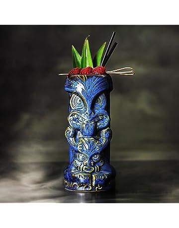 bar@drinkstuff Duece Tiki Tazas de 16 oz/450 ML – cerámica Hawaiano cóctel