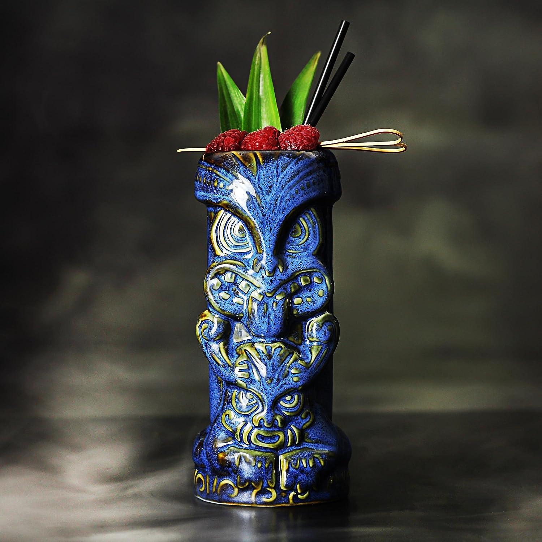 bar@drinkstuff Duece Tiki Mugs 16oz/450ml - Ceramic Hawaiian Cocktail Mug