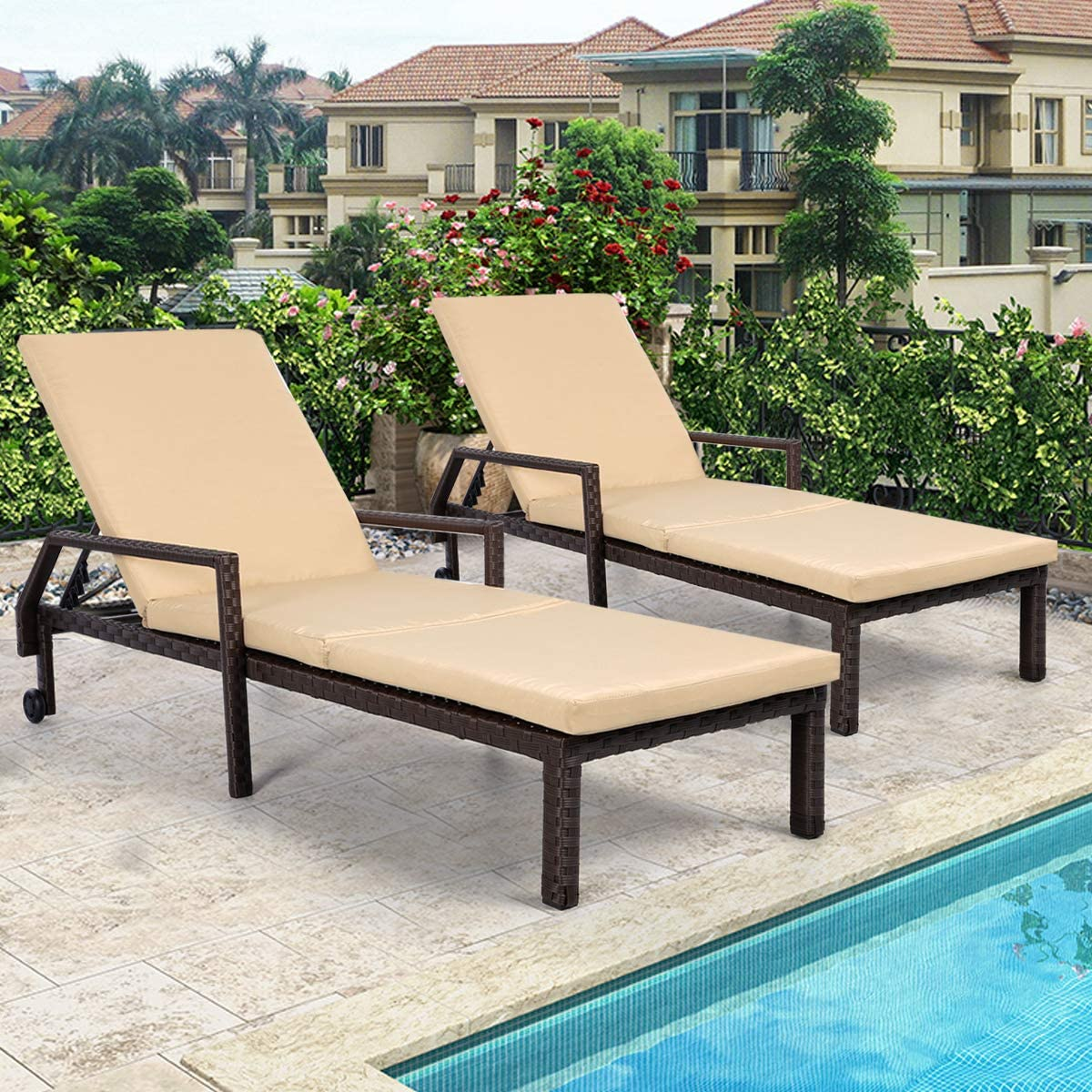 - Amazon.com: AECOJOY Adjustable Outdoor Chaise Lounge Chair Rattan
