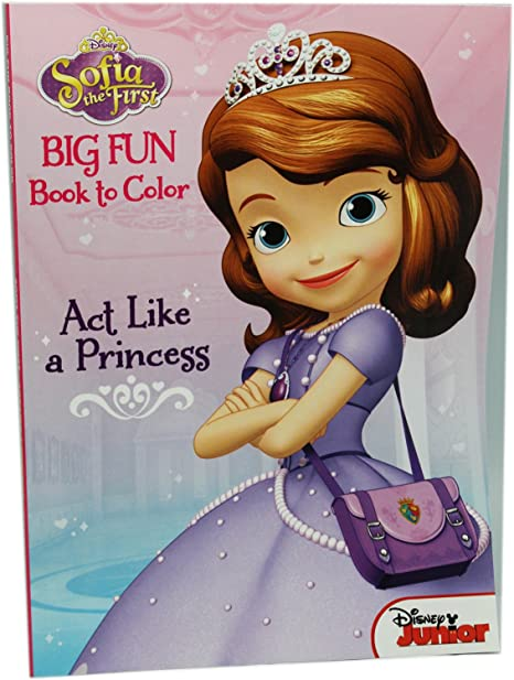 - Amazon.com: Disney Sofia The First Big Fun Book To Color Act Like A Princess  Coloring Book: Toys & Games