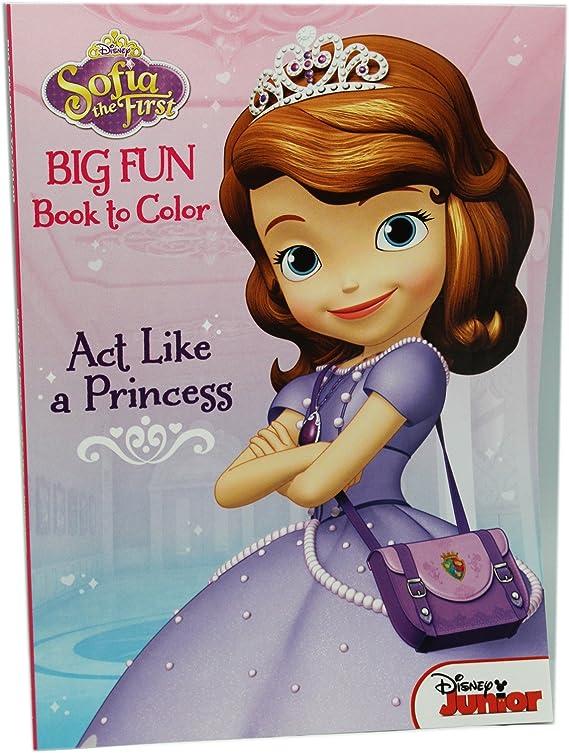 Amazon.com: Disney Sofia The First Big Fun Book To Color Act Like A Princess  Coloring Book: Toys & Games