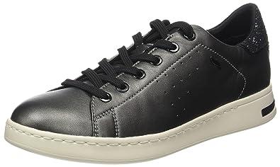 Geox D Jaysen A, Sneakers Basses Femme, Gris (DK Grey/Black), 41 EU