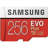 Samsung Mobile UK 256 GB 95 MB/s Class 10 U3 Memory Evo Plus MicroSD card with Adapter