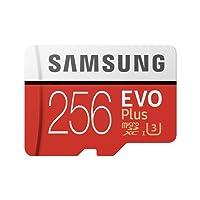 Samsung Carte Mémoire microSDHC Pro Plus 64Go UHSClasse de Vitesse 3, Classe 10pour Action Cam, Smartphone et Tablette avec Adaptateur SD (Modèle 2017) Evo Plus 256 Go Rouge/Blanc
