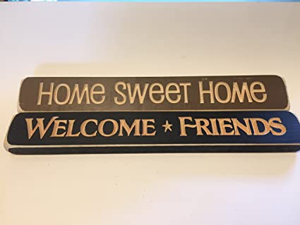 Lovely You Are The Difference LLC Inspirational Quote Decorative Engraved Wood  Block Signs  Home Sweet Home