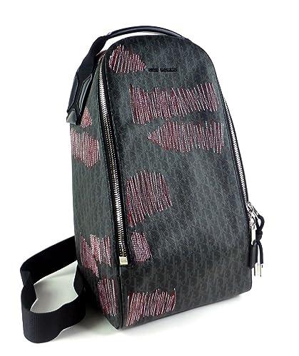 wholesale dealer 1a294 a12de Amazon | [ディオール・オム] ボディバッグ ダークライト ロゴ ...