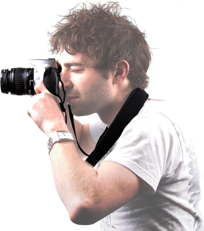 DURAGADGET Durable Quick Release Non-Slip Neoprene Camera Carrying Strap for Canon EOS 450D 7D /& 40D
