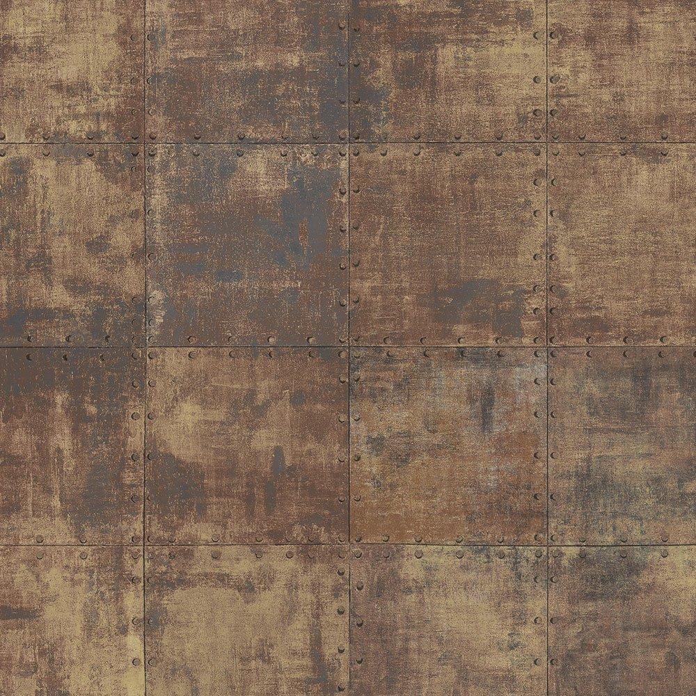 Norwall LL36228 Steel Tile Wallpaper
