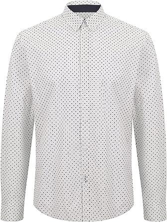 Merc of London Siegel, Shirt, Long Sleeve, Polka Dot Camisa para Hombre: Amazon.es: Ropa y accesorios
