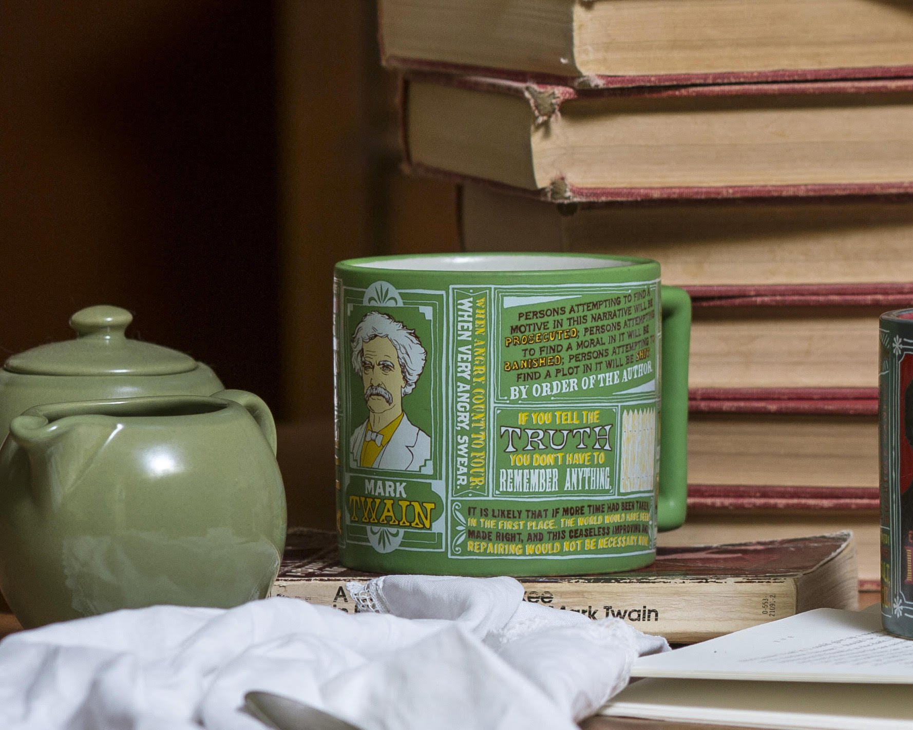 Mark Twain Coffee Mug - Twain's Most Famous Quotes and Depictions - Comes in a Fun Gift Box by The Unemployed Philosophers Guild (Image #4)