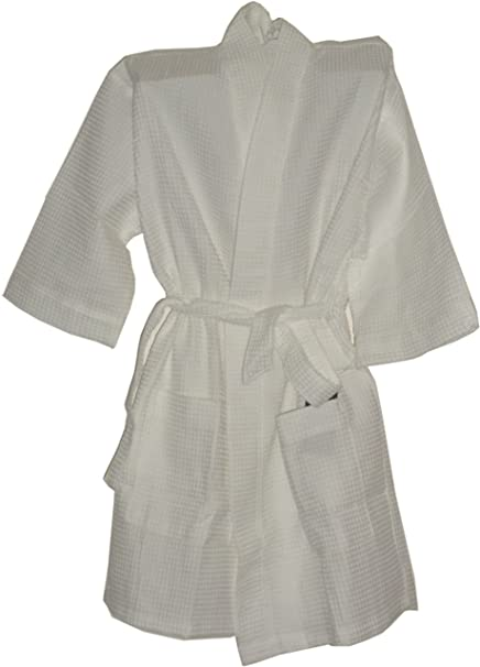 Image Unavailable. Image not available for. Color  Cotton Waffle Robe White  Monogrammed ... 99be8c413