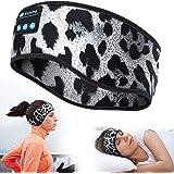 Bluetooth Headband Sports Sleep Headphones, Wireless Music Sleeping Headphones Sleep Eye Mask Earbuds IPX6 Waterproof for Sid
