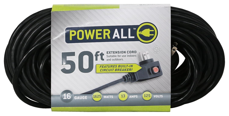 amazon com power all extension cord with circuit breaker 125v rh amazon com