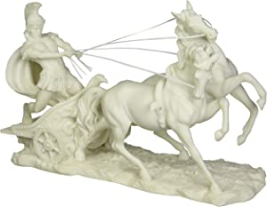 Design Toscano WU72011 6.5 in. Charge of the Roman Charioteer Sculpture,white