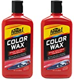 Formula 1 Red Color Wax — Restores Color and Fills in Scratches — 16 fl. oz, Pack of 2