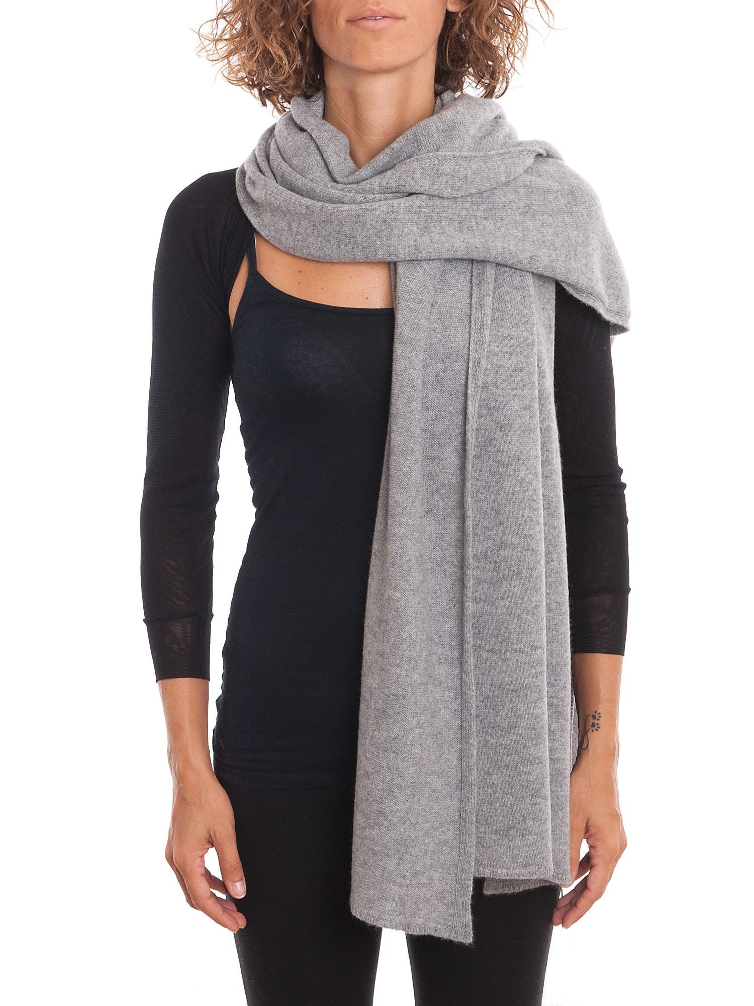 Dalle Piane Cashmere - Stole 100% cashmere - Made in Italy, Color: Grey, One size