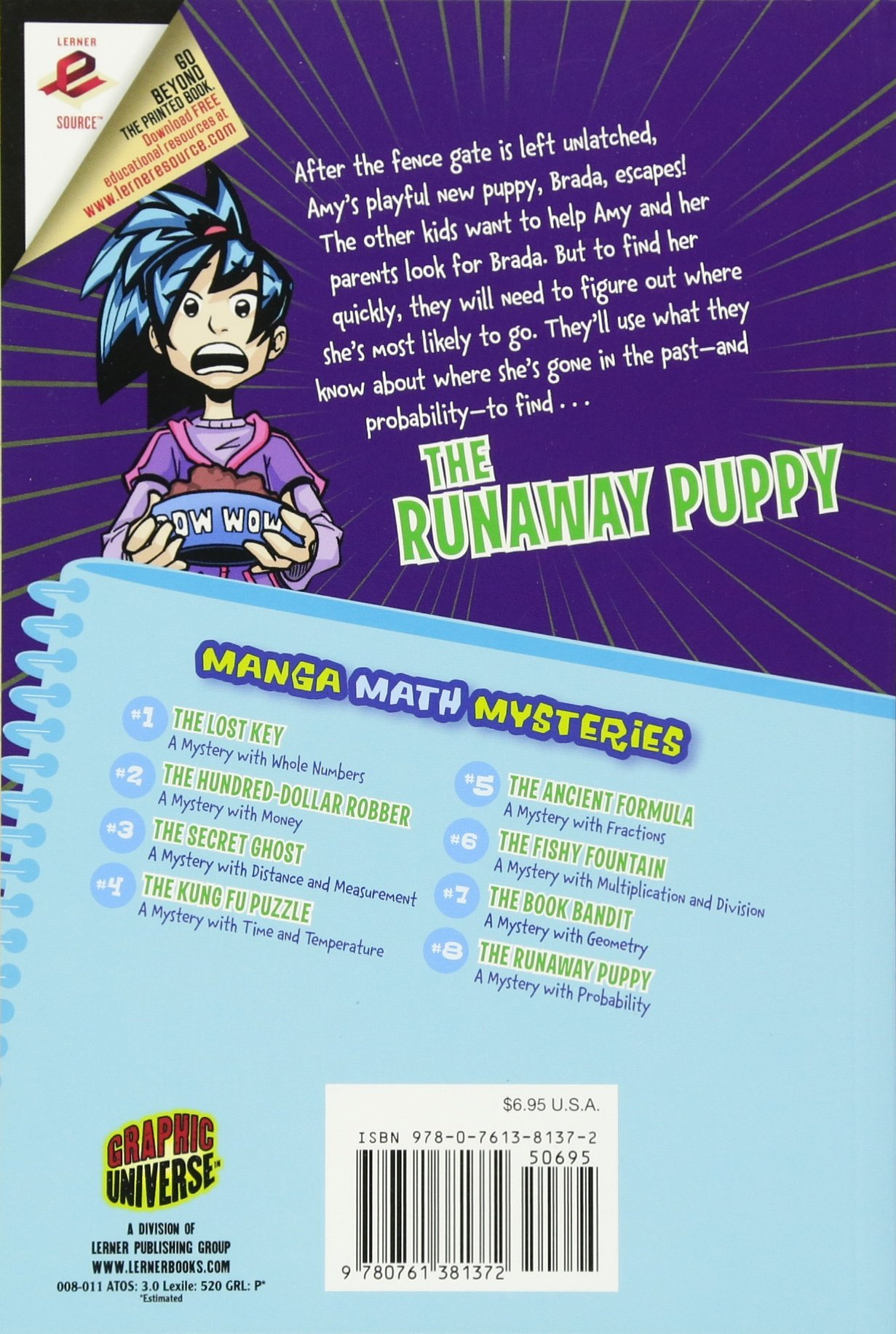 Manga Math Mysteries 8: The Runaway Puppy A Mystery With Probability ...
