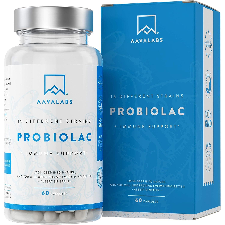 Probiótico [30 Mil Millones de UFC] - Fórmula de Amplio Espectro - 15 Cepas - Lactobacilos y Bífidobacterias - Mejora del Sistema Inmunológico - 60 ...