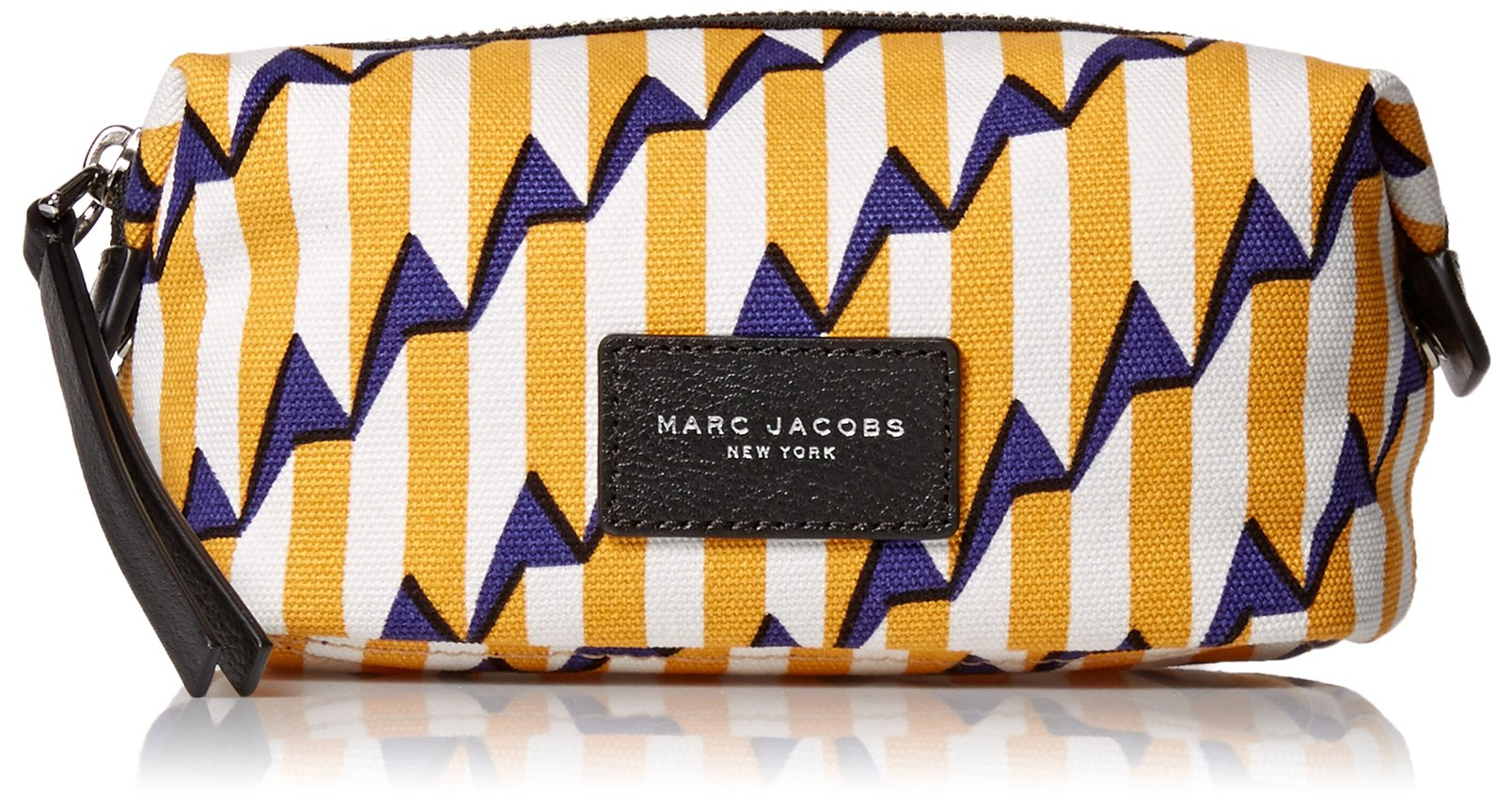 Marc Jacobs Arrow Head Printed Biker Cosmetics Landscape Pouch, Pyramid Yellow Paris Multi, One Size