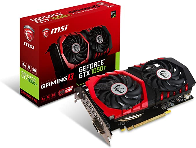 MSI Computer Video Graphic Cards GeForce GTX 1050 TI Gaming X 4G, 4GB
