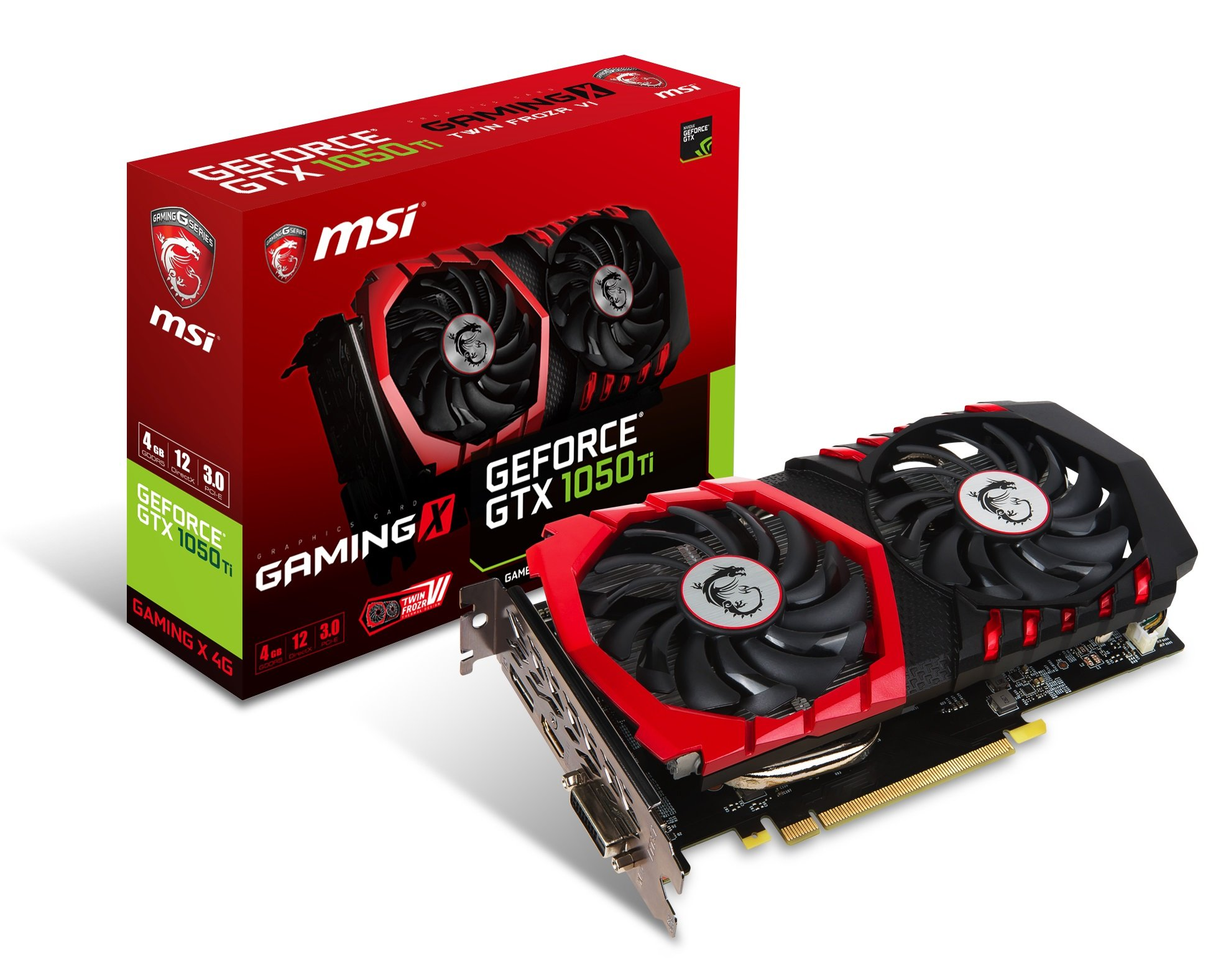MSI Computer Video Graphic Cards GeForce GTX 1050 TI Gaming X 4G by MSI