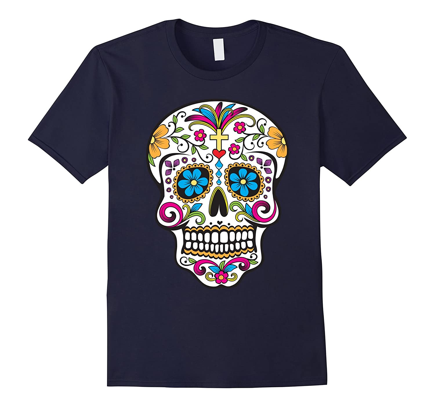 [Hot] Day of the Dead Sugar Skull T-Shirt-Art