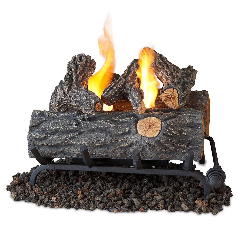 Terra Flame Gel Log Set Fireplace Insert 18 Inch Brown 2610-O