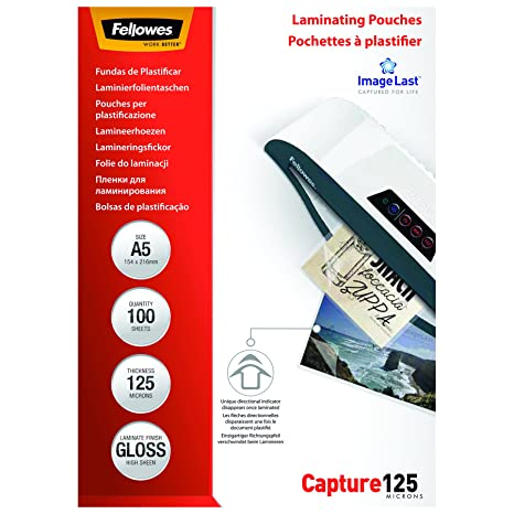 Amazon.com: Fellowes Laminating Pouch A5 250micron Pack of ...