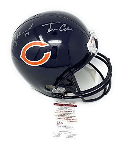 Image Unavailable. Image not available for. Color  Jordan Howard Tarik  Cohen Chicago Bears Dual Signed Autograph Full Size Helmet JSA Witnessed  Certified 308386525