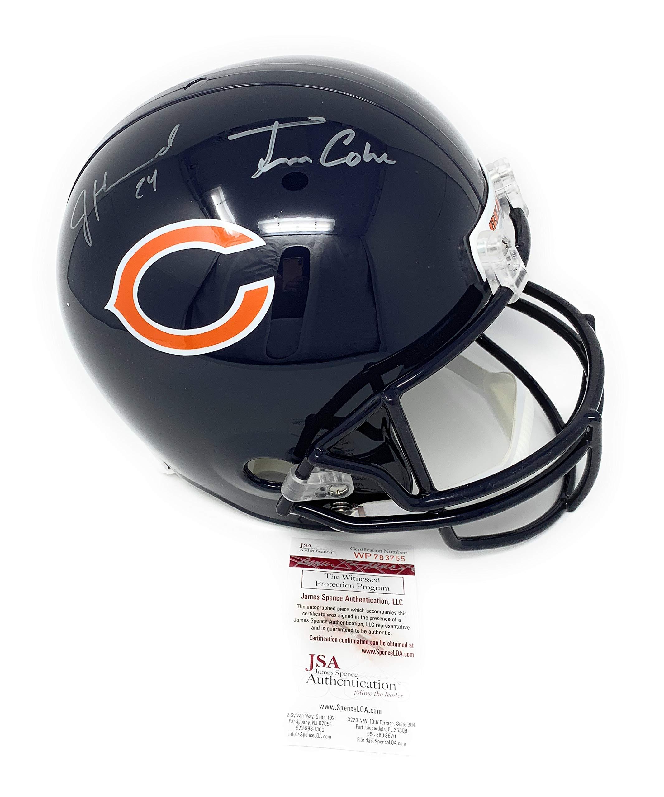 Jordan Howard Tarik Cohen Chicago Bears Dual Signed Autograph Full Size Helmet JSA Witnessed Certified