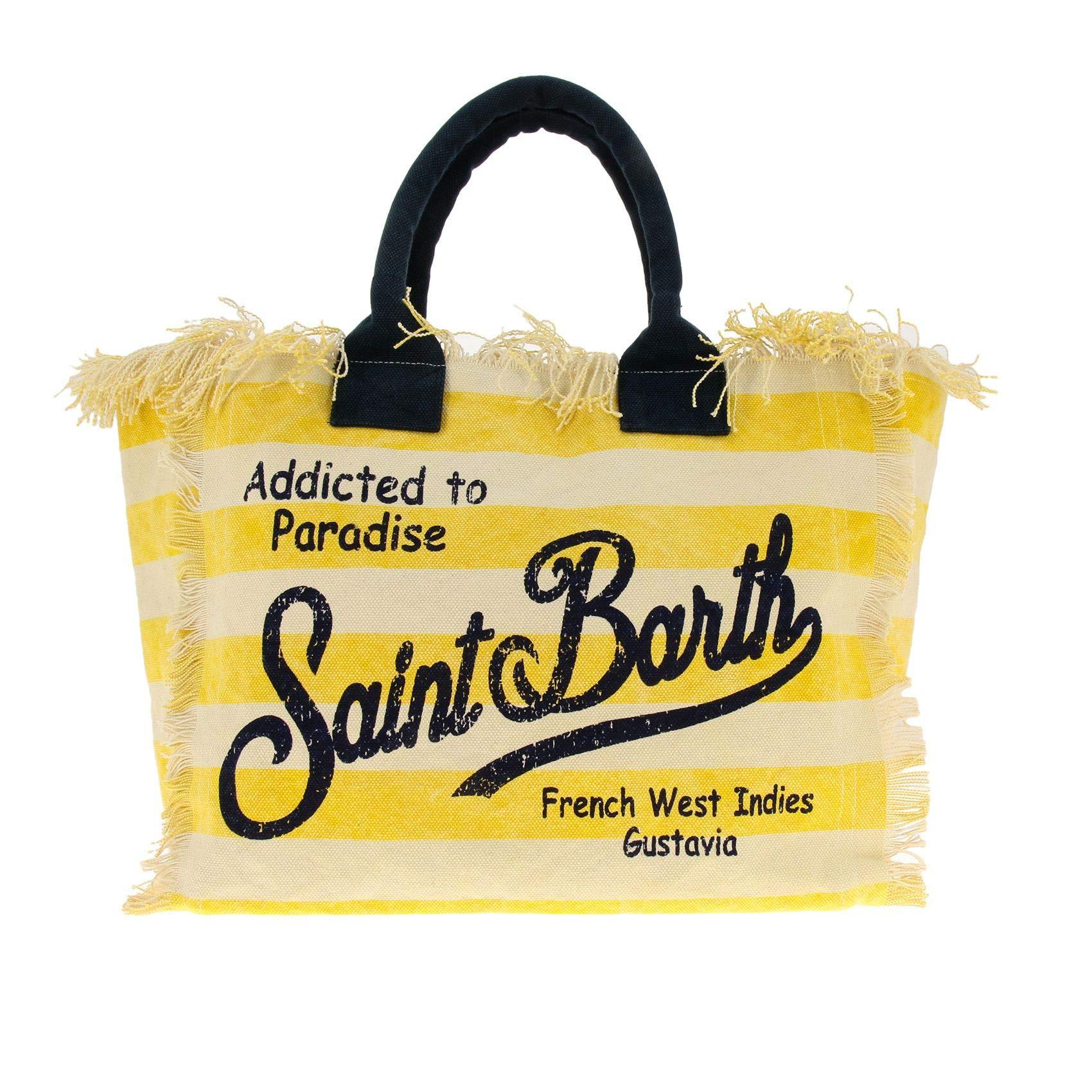 Mc2 Saint Barth Women's Vanityrigalig91 Yellow Polyester Tote