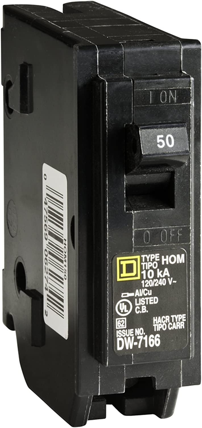 Square D by Schneider Electric HOM150CP Homeline 50-Amp Single-Pole Circuit Breaker