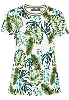 T-Shirt mit Perlenausschnitt Leicht Tailliert Multicolor%2c XS Hallhuber 7LGkfKTu6Y