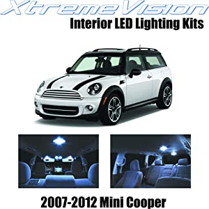 Xtremevision Interior LED for Mini Cooper 2007-2012 (10 Pieces) Cool White Interior LED Kit Package+ Installation