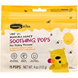 Comvita Kids™ Soothing Pops with Certified UMF™ 10+ Manuka Honey for Kids I Non-GMO, Gluten Free I 15 CT