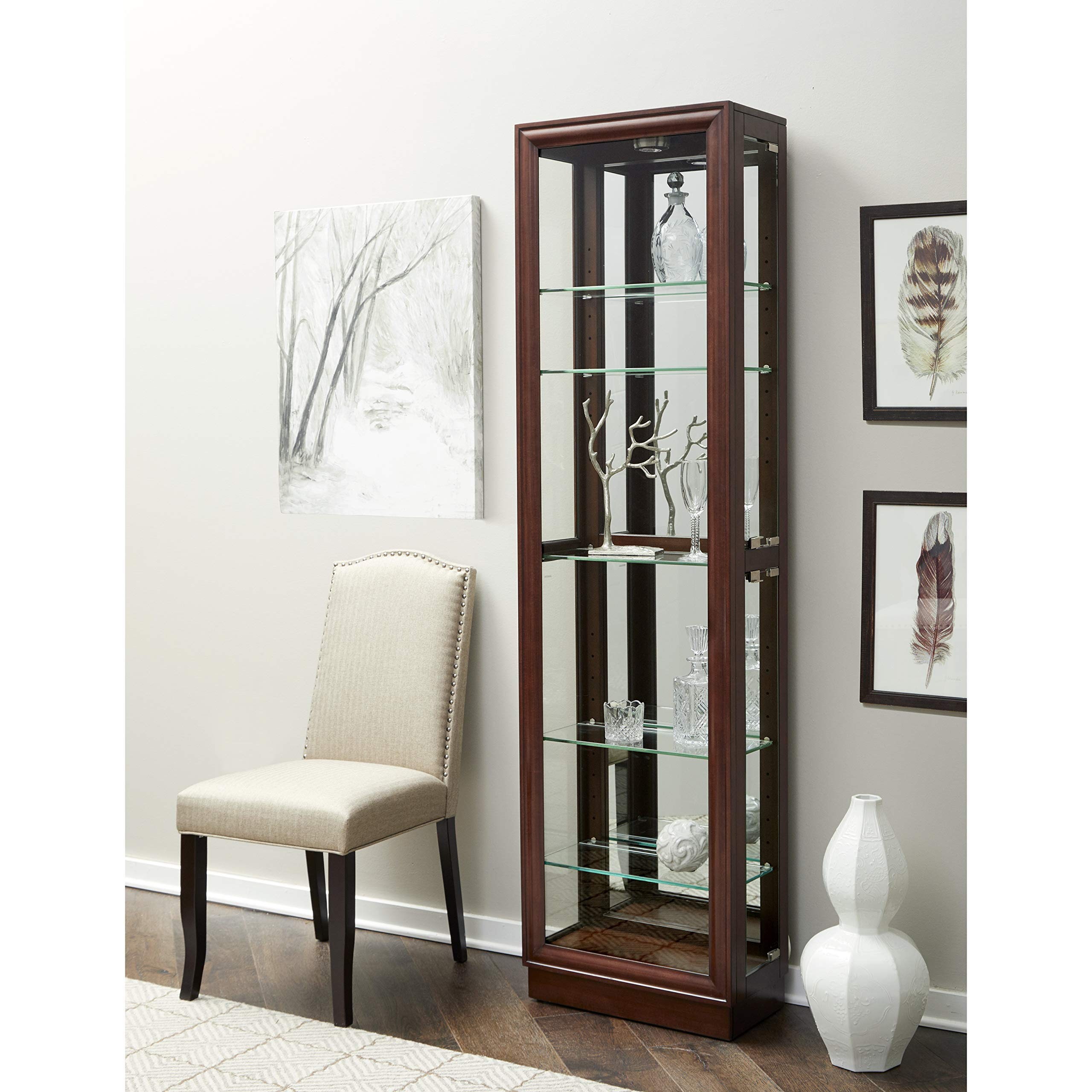 Pulaski Side Entry Curio Display Cabinet, 21 0