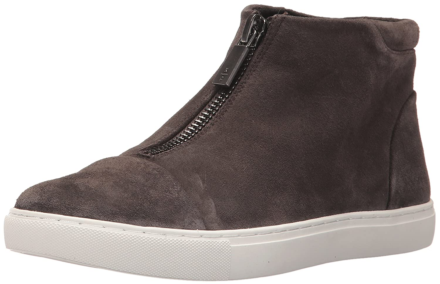 Kenneth Cole New York Women's Kayla High Top Front Zip Suede Fashion Sneaker B06ZXRMD7D 8.5 B(M) US|Asphault