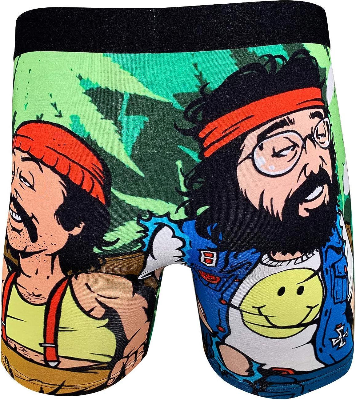 Good Luck Undies Mens Cheech /& Chong On Counch Boxer Brief Underwear