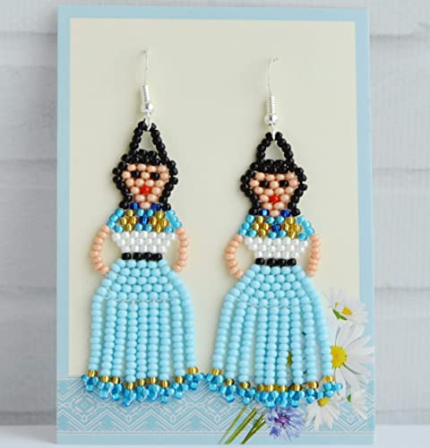 536504209 Amazon.com: Mexican earrings Frida Kahlo seed bead earrings for Women  handmade Fringe Tassel Beaded earrings Fashion for Women Lady jewelry  Fiesta Doll: ...