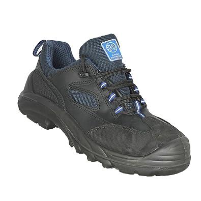 BS Safety Shoes - Calzado de protección de Piel para hombre, color Negro, talla 39