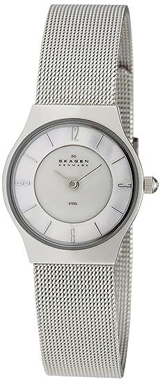 6b14d5bc1537 Skagen Reloj Analógico para Mujer de Cuarzo con Correa en Acero Inoxidable  233XSSS  SKAGEN Designs  Amazon.es  Relojes