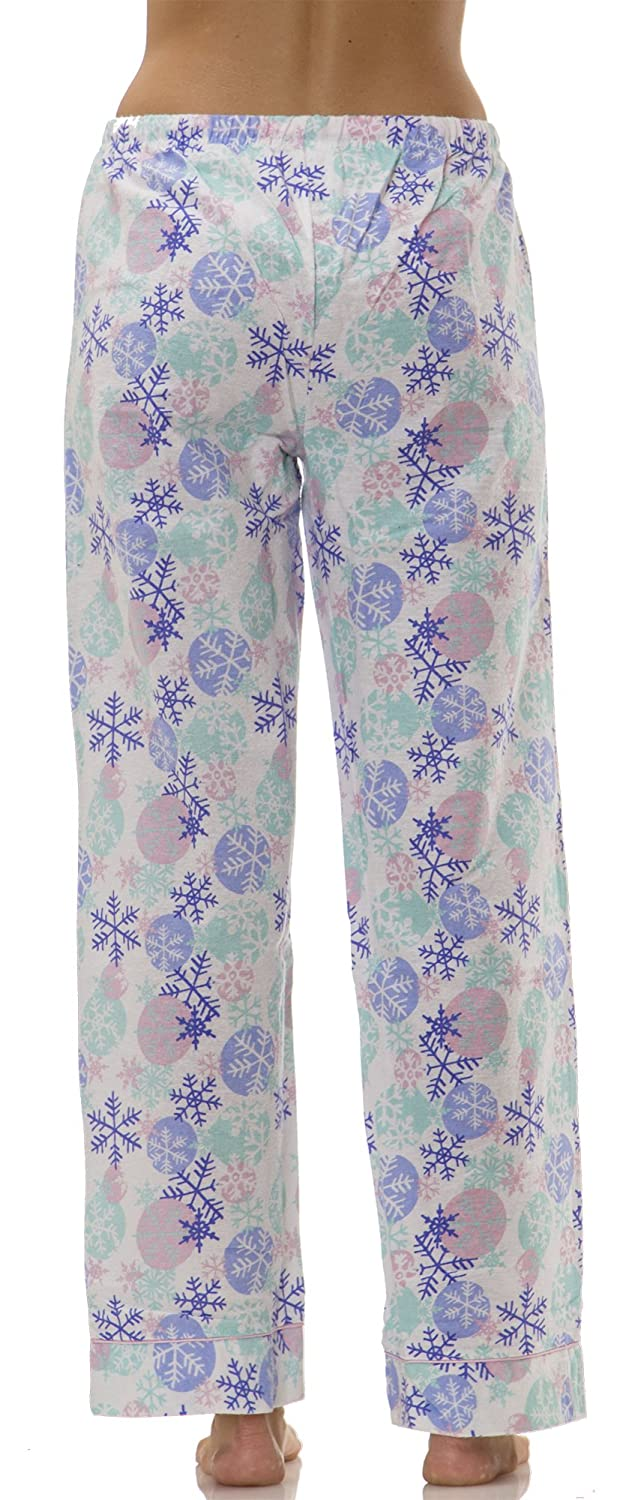 Ava Rose (5580VR) Womens Snowflake Flannel Pajama Pants In Snowflakes Size: M at Amazon Womens Clothing store: