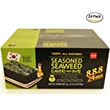 Roasted Seaweed Snack Strips, Lightly Salted and Seasoned [100% All Natural] Gluten Free! No MSG Vegan Friendly (Pack of 24) - Original Flavor