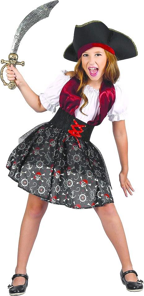 Generique - Disfraz Pirata niña 7-9 años (122/134): Amazon.es ...