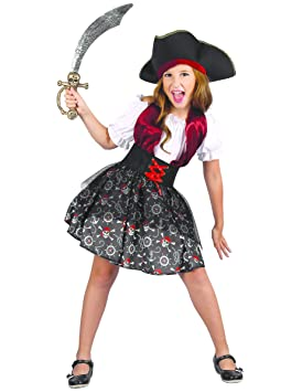 Generique - Disfraz Pirata para niña L 10-12 años (130-140 cm ...
