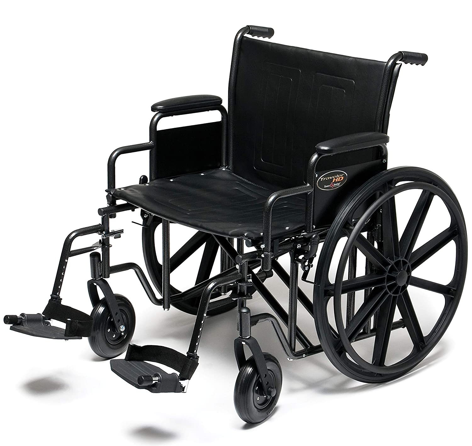"Graham-Field Everest & Jennings Traveler HD Wheelchair, Detachable Desk Arms & Swingaway Footrests, 20"" Seat, Silvervein Color 81VBXtDwjXL._SL1500_"