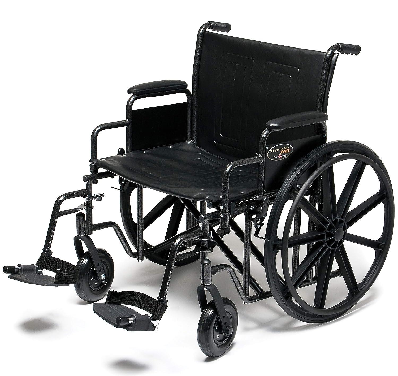 "B003XFV4EU Graham-Field Everest & Jennings Traveler HD Wheelchair, Detachable Desk Arms & Swingaway Footrests, 20"" Seat, Silvervein Color 81VBXtDwjXL._SL1500_"