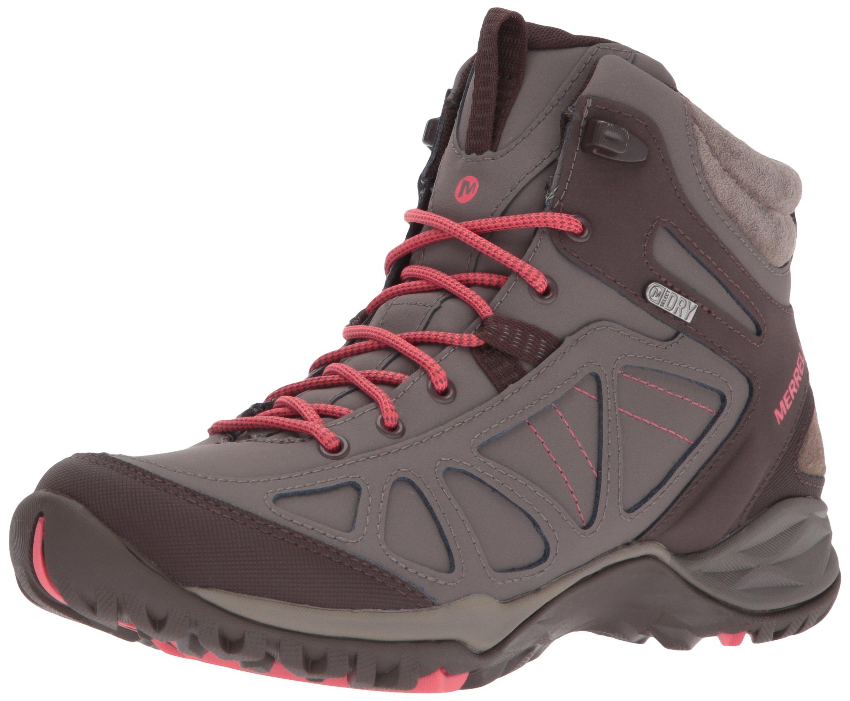 Merrell Women's Siren Q2 Mid Waterproof Hiking Boot, Boulder, 8.5 M US