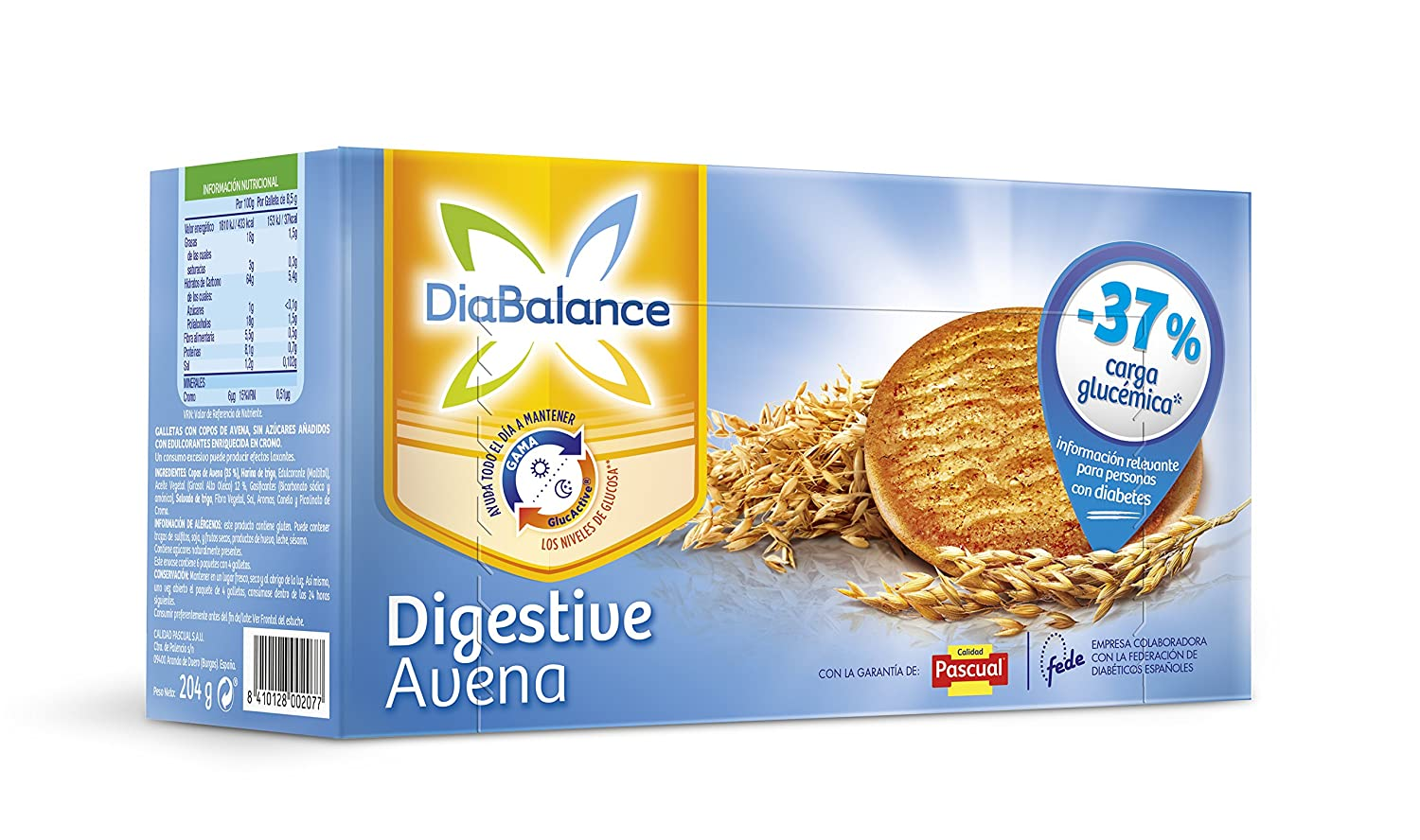 DiaBalance Galleta Digestive - Caja de 6 paquetes con 4 galletas - Total 204 gr: Amazon.es: Amazon Pantry
