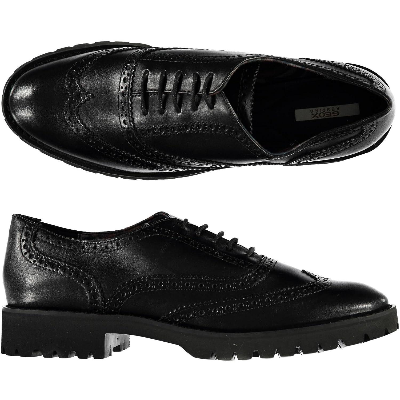 Geox - Zapatos de cordones para mujer 35|negro
